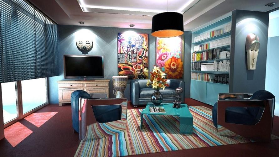Brazilian decorating living room